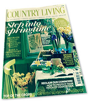 Country Living Magazine Cover | Duke House | City Centre Boutique Bed and Breakfast | Duke House, Cambridge, UK